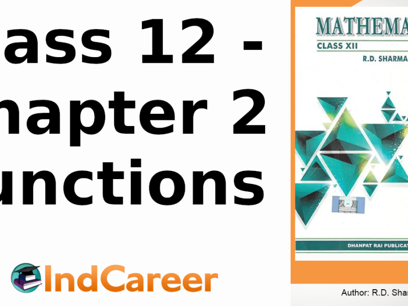 RD Sharma Solutions for Class 12 Maths Chapter 2–Functions