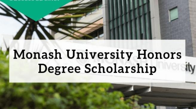 Monash University John Swan Honours Scholarship 2019
