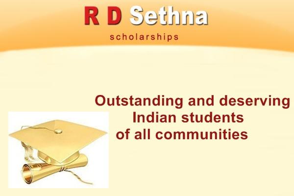 R D Sethna Loan Scholarship