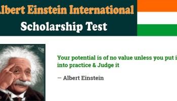 Albert Einstein International Scholarship