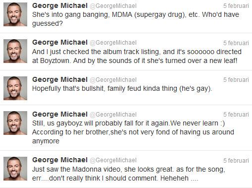 George Michael over MDNA, het nieuwe album van Madonna