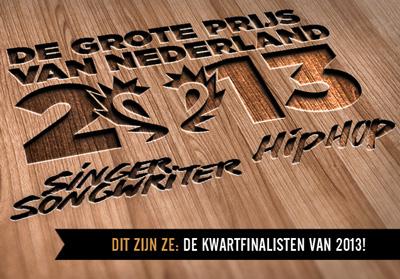 Kwartfinalisten Grote Prijs 2013 bekend