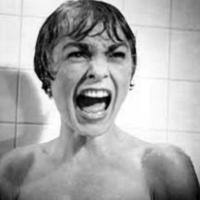 De beroemde douchescene uit de film Psycho van Alfred Hitchcock