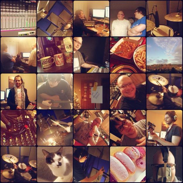 Robb Murphy in de studio voor zijn nieuwe album
