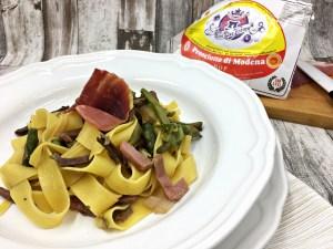 Pasta Asparagi, Funghi e Prosciutto di Modena DOP