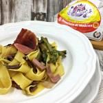 Pasta Asparagi, Funghi e Prosciutto crudo