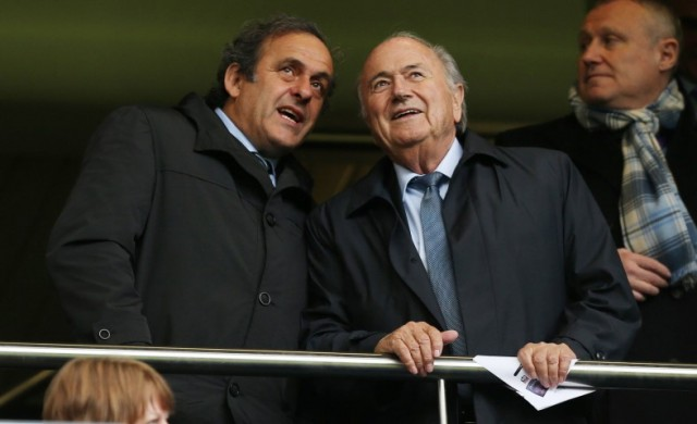 sepp blatter en michel platini. Foto via Action Images / Pro Shots