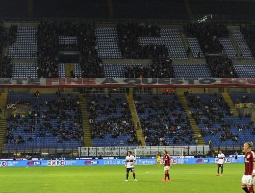 Basta, a choreo display by AC Milan Fans against Genoa