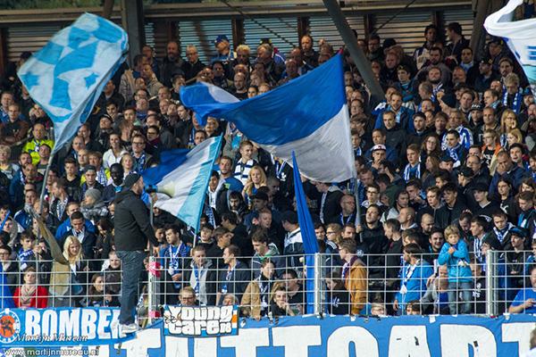 De fans van Stuttgarter Kickers