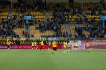 Ondertussen bedanken de spelers van Roda JC de ruim 12.000 Roda fans voor hun steun