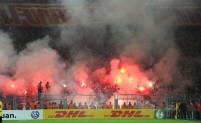 12.000 fans Union Berlin op bezoek in Dortmund. Bron en copyright: Pro Shots / Witters