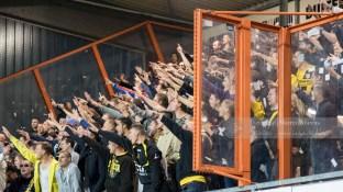...Terwijl de NAC fans in het uitvak van zich laten horen...