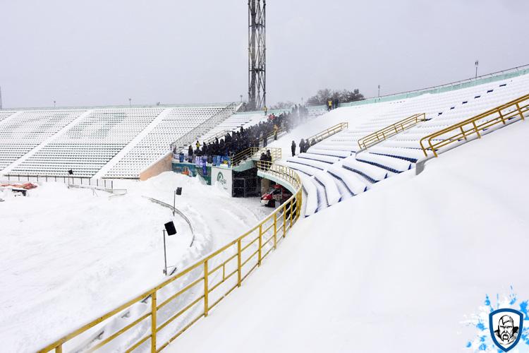Het uitvak met Dynamo Kiev fans. Foto afkomstig van http://wbc.kiev.ua/