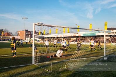 Maar de club van 't Kiel weet toch de 1-1 te maken