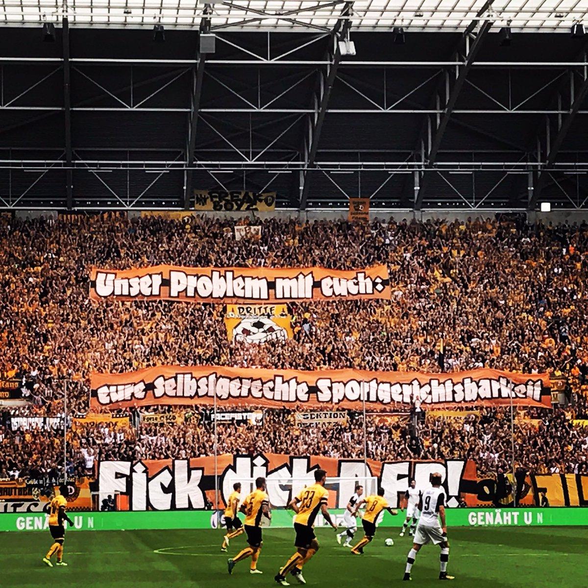 Dynamo Dresden Bron: Twitter/@K_BLOCK_DYNAMO