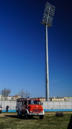 Lichtmast in stadion van Kastrioti