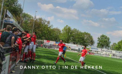 Excelsior 31 viert een doelpunt tijdens de derby tegen buurman SVZW