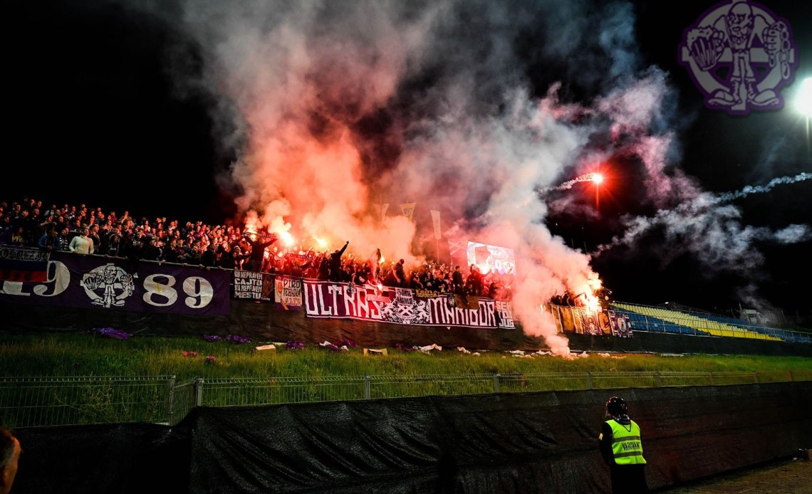 Pyro Ultras supporters Maribor