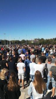 Met 1000 man derby kijken op groot scherm