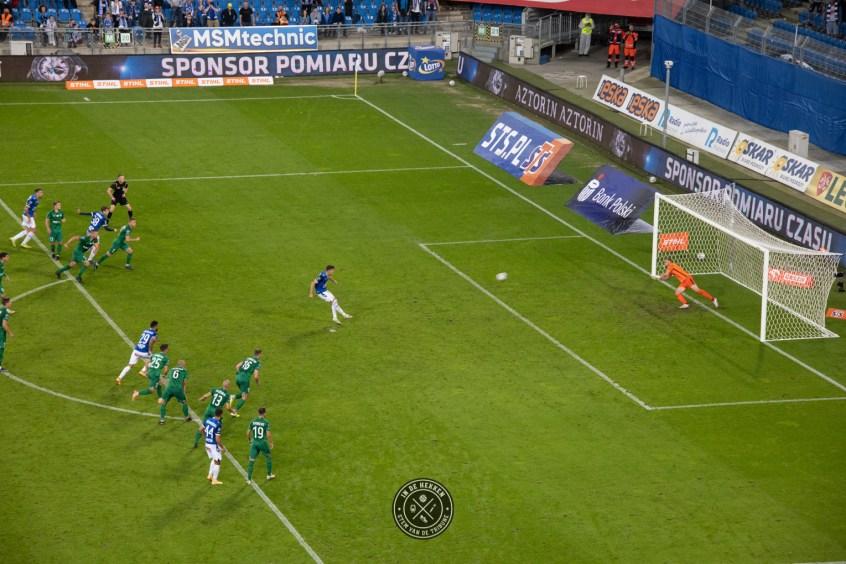 De winnende uit een penalty vlak voor tijd