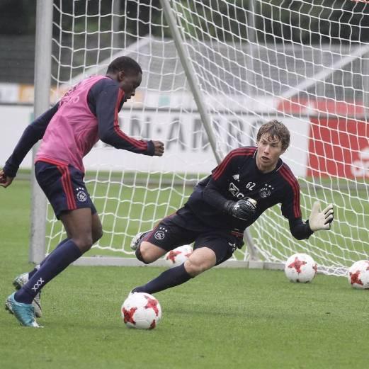 Andre Krul in actie voor Ajax