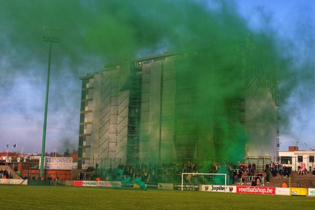 Uitzicht vanuit het prachtstadion van Racing Mechelen