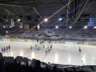 Tifo bij een wedstrijd van HC Nitra (foto via Trogári).