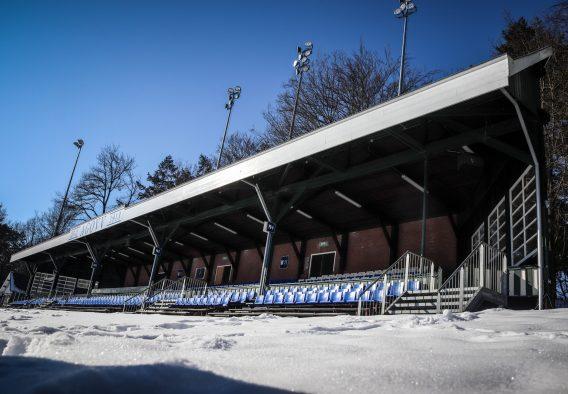 Oude tribune van Sportpark Berg en Bos