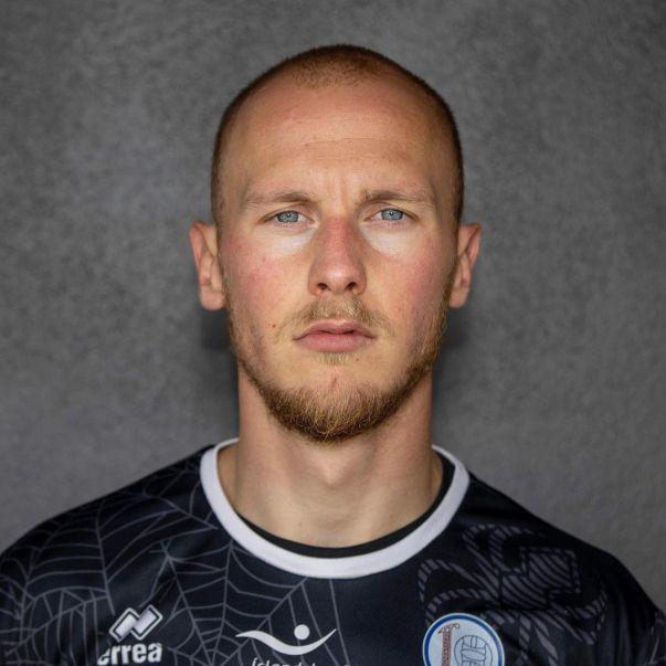 Guy Smit als keeper van Leiknir Reykjavík