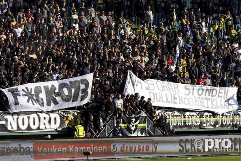 Supporters ADO Den Haag brengen boodschap aan gemeente