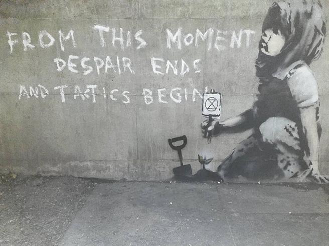 Banksy, nuovo murale per il clima