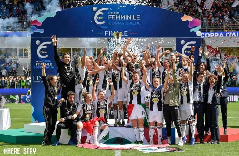 Juventus Women doppietta campionato e Coppa Italia FOTO