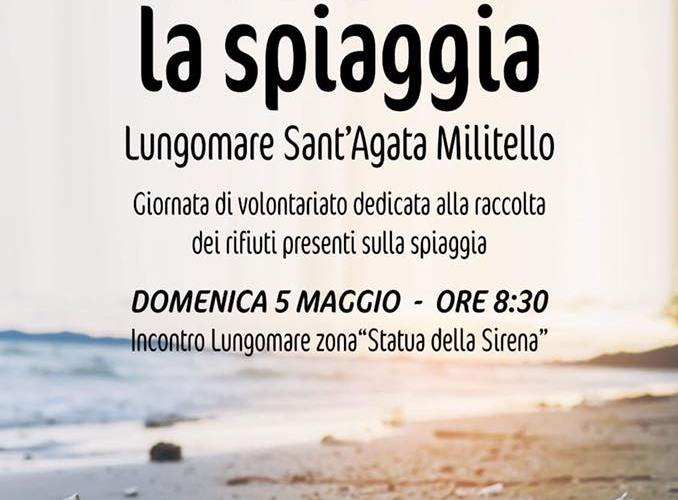 Puliamo la spiaggia, iniziativa ambientale a Sant'Agata M.llo