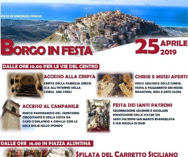'Borgo in Festa' il 25 aprile a San Marco d'Alunzio