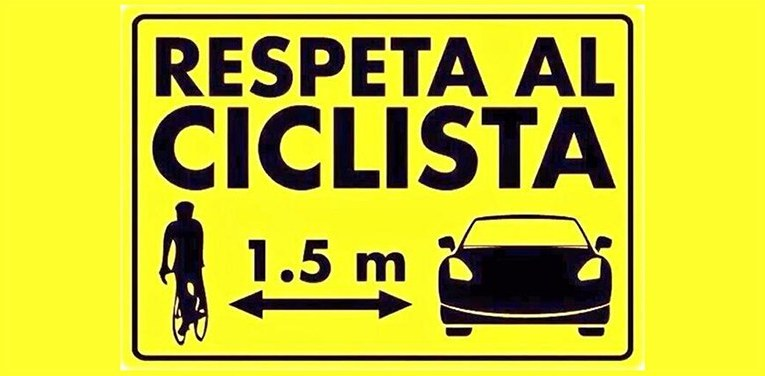 Multe fino a 651 euro per chi sorpassa un ciclista a meno di un metro e mezzo di distanza