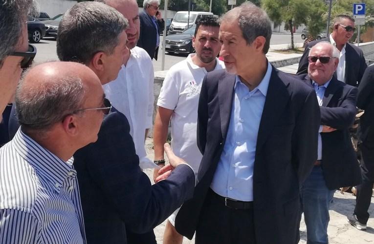 Il Governatore Musumeci in visita a Gioiosa Marea