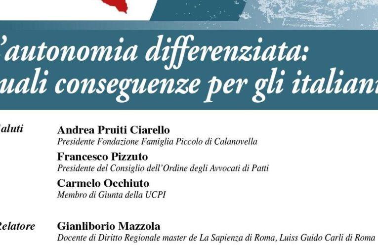 Convegno a Villa Piccolo. L'autonomia differenziata: quali conseguenze per gli italiani?
