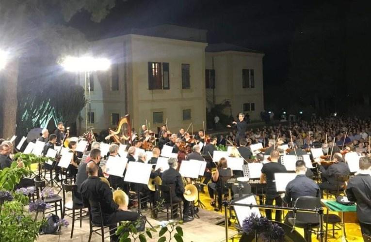 Orchestra Sinfonica Siciliana ieri a Villa Piccolo