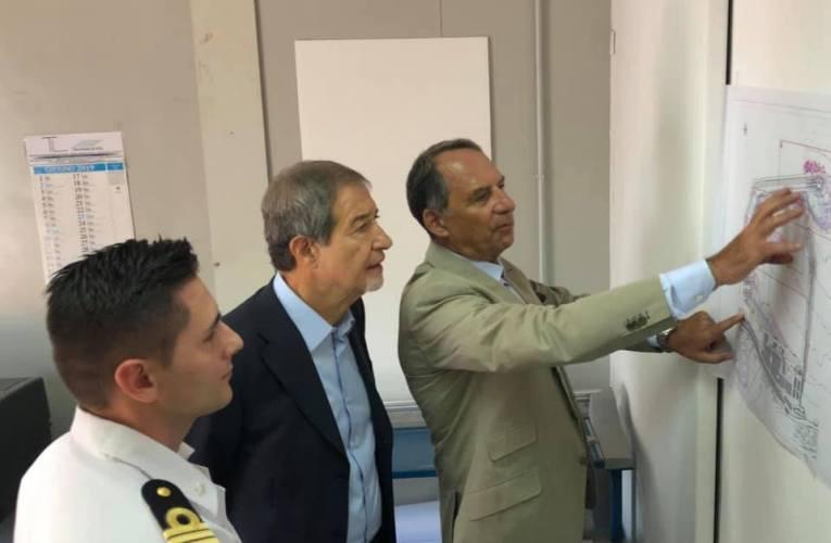Il Presidente Musumeci visita il costruendo porto dei Nebrodi
