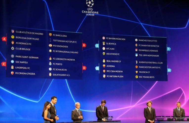 Sorteggi Champions, la Juve pesca l'Atletico,