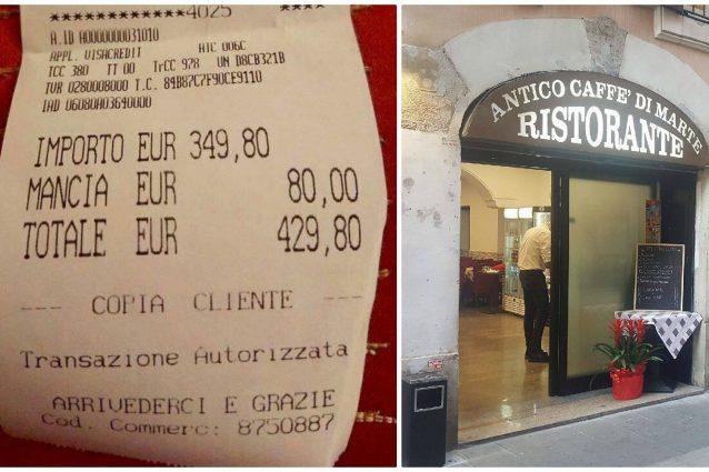 Roma, chiuso il ristorante dello scontrino da 430 per un piatto di pesce alle due turiste