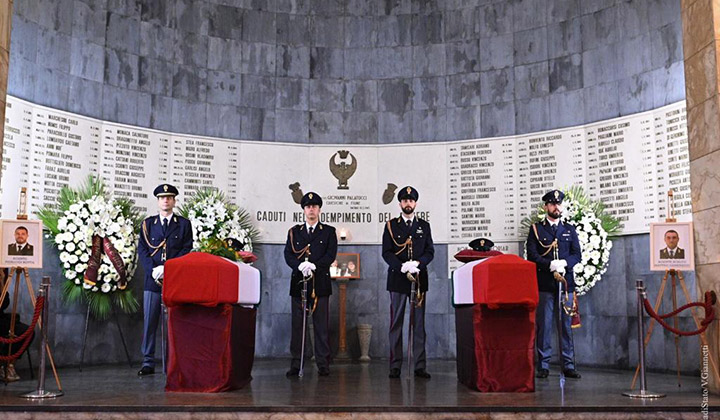 Trieste,sparatoria Questura, funerali celebrati nella chiesa di sant'Antonio Taumaturgo