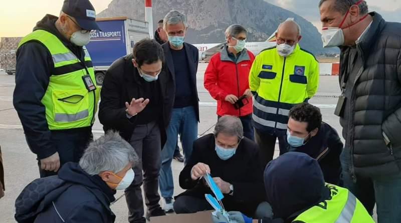 Regione Siciliana, atterrato a  Palermo un carico di 40 tonnellate di dispositivi acquistato dalla  Regione