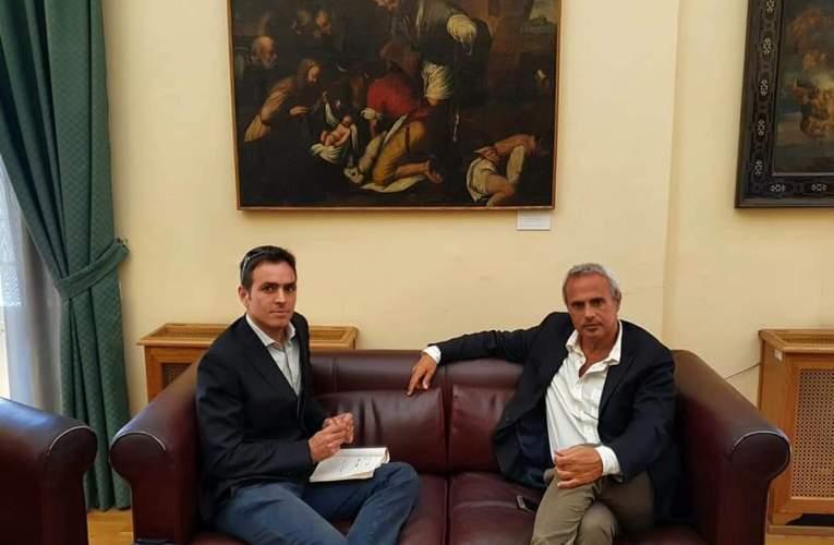 L'assessore Samona' incontra  l'antropologo Andrea Tusa