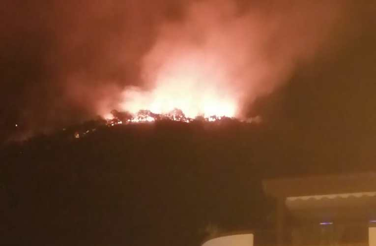 Vasto incendio a Piraino, l'intervento nella notte dei vigili del fuoco