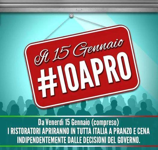 Da domani, #IOAPRO1501. La protesta di ristoratori e attività che apriranno nonostante i divieti