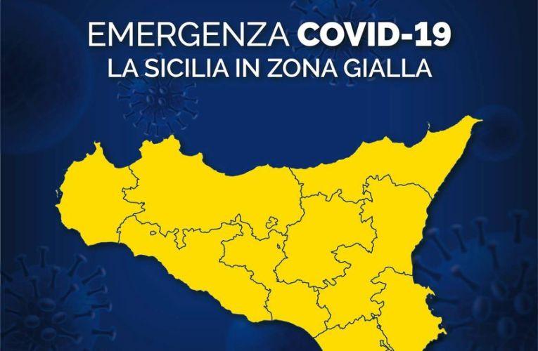 """Covid, Sicilia da mezzanotte è """"zona gialla"""": ecco che cosa si può fare"""