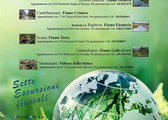 Giornata Mondiale dell'Ambiente: sette escursioni fluviali promosse da BCsicilia.
