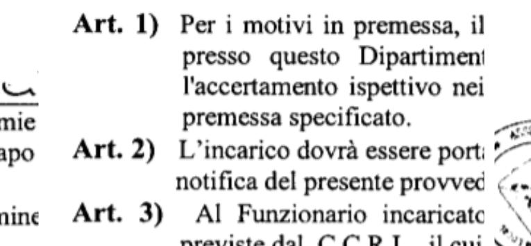 Capo d'Orlando (Me), crisi finanziaria – La Regione Siciliana incarica un funzionario per vederci chiaro. É accertamento ispettivo.