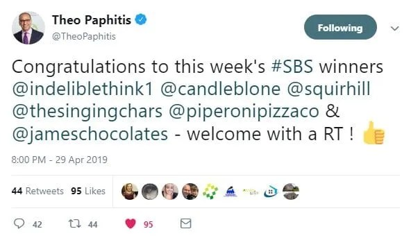 theo paphitis, #SBS, small business sunday, copywriter, indelible think